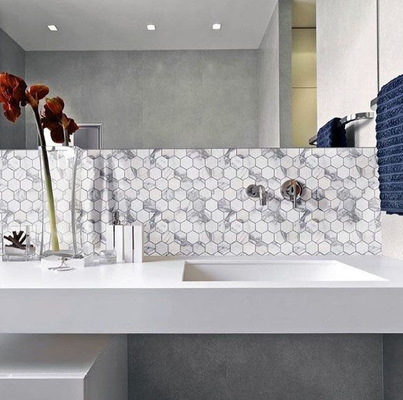 Top 70 Best Bathroom Backsplash Ideas Sink Wall Designs Amazing Bathrooms Simple Bathroom Decor Best Bathroom Designs