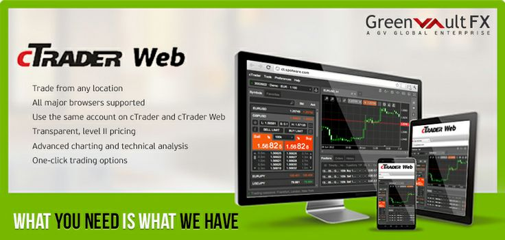 #Traders can now trade #forex over the internet with Greenvault #FX cWeb.  Enjoy all the most powerful features of #cTrader on the go, #trade anywhere anytime with #cWeb.  To know more visit our website..