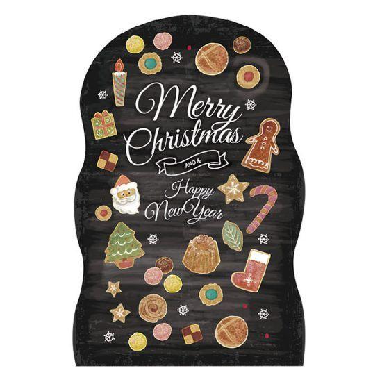 本物の黒板に描かれたようなクリスマスを連想させるサンタやツリー、様々なイラストが可愛らしい商品。スイーツ柄も満載でカフェやケーキ屋など飲食店にもオススメです!