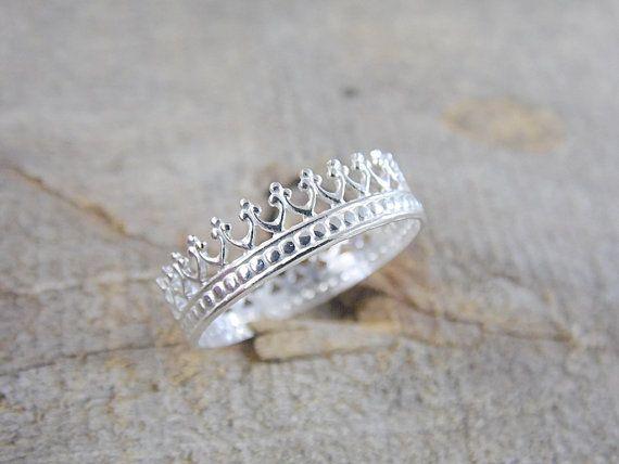 Principessa della corona anello in argento anello di AutumnEquinox