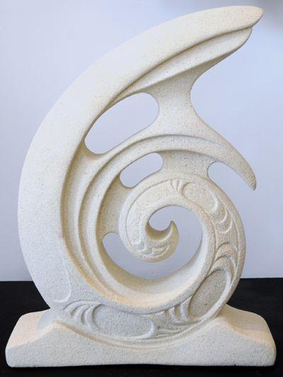 Bino Smith Kura Gallery Maori Art Design Aotearoa New Zealand Carving Koru Oamaru Stone Sculpture