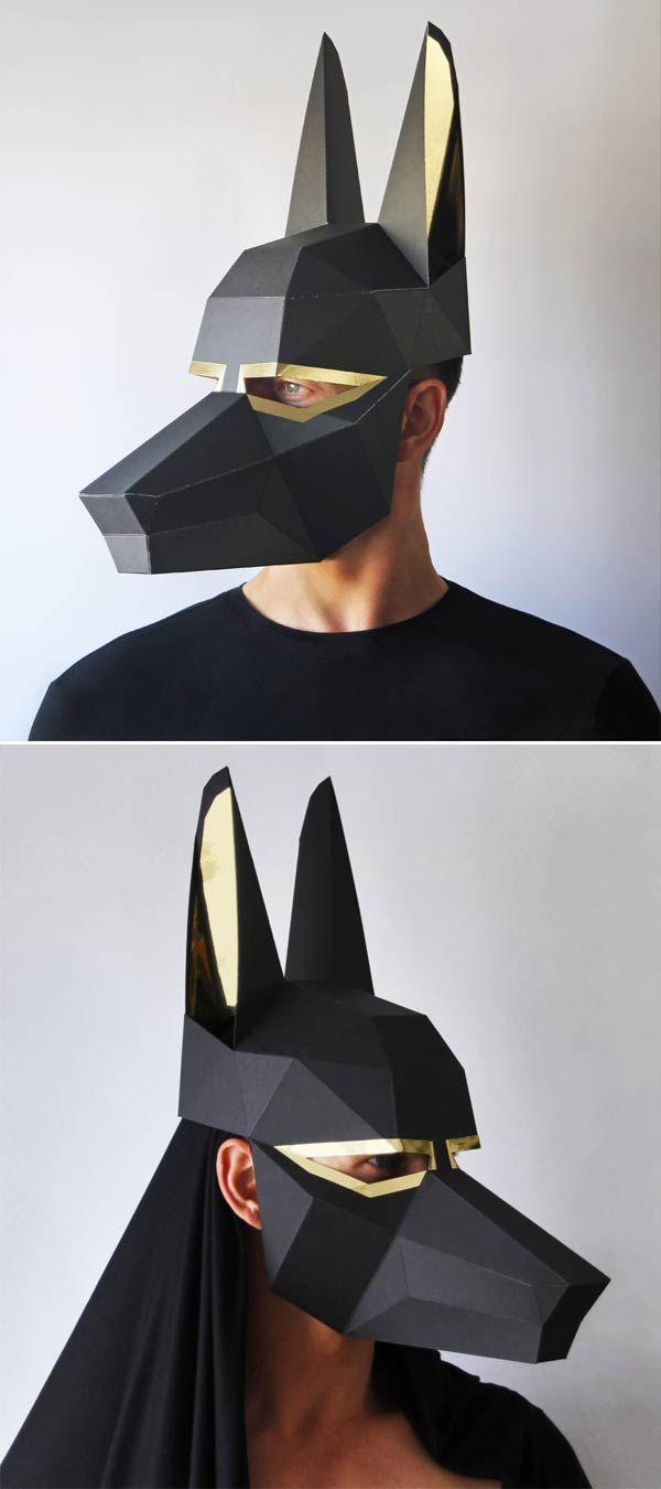Anubis Paper Mask