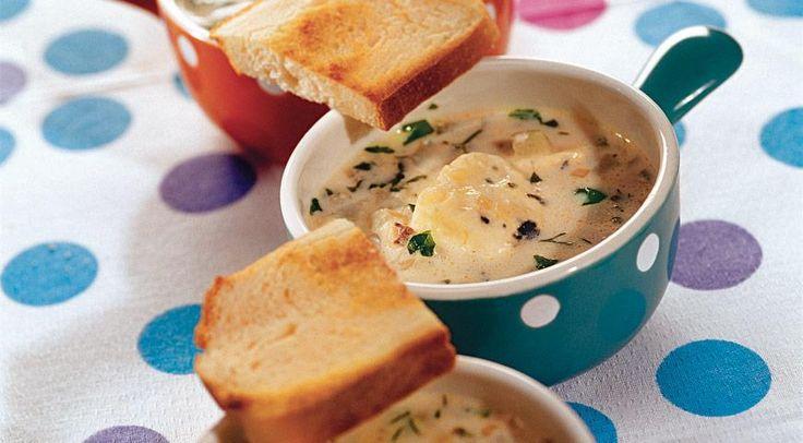 Суп с голубым сыром