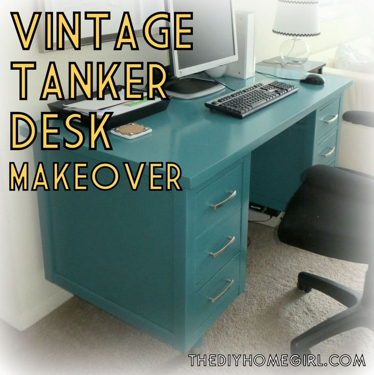 The 25 best tanker desk ideas on pinterest metal desk makeover vintage mcm wood tanker desk paint furniture makeover teal turquoise home office publicscrutiny Choice Image