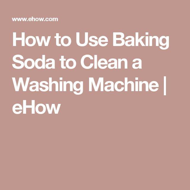 baking soda in the washing machine