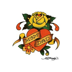 Ed Hardy Rose Temporary Tattoo love this idea for old school