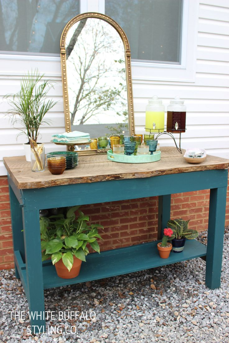 Table With Drink Trough 11 Best Outdoor Buffet Table Ideas Images On Pinterest Outdoor