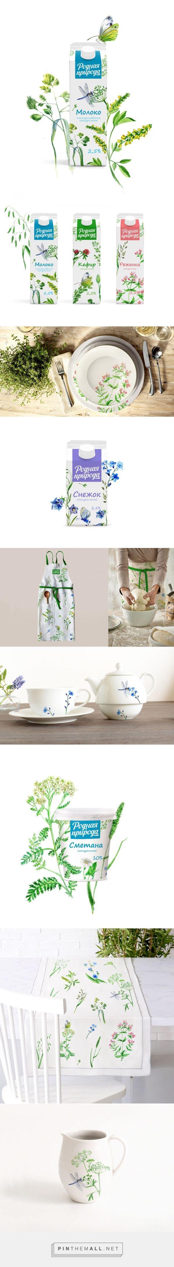 Rodnaya Priroda milk packaging design by BRAND EXPERT Freedom Island - http://www.packagingoftheworld.com/2016/11/rodnaya-priroda.html