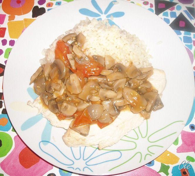 pollo funghi riso