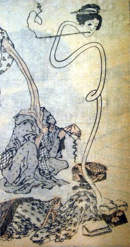 Katsushika Hokusai - Rokurokubi