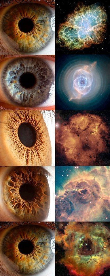 Eyescapes --- Mind=Blown...Interesting to note though...The colors we see are a construct of seeing the images with near infared, and ultraviolet light imagery..so what you are seeing may be unable to be detected By the human eye...