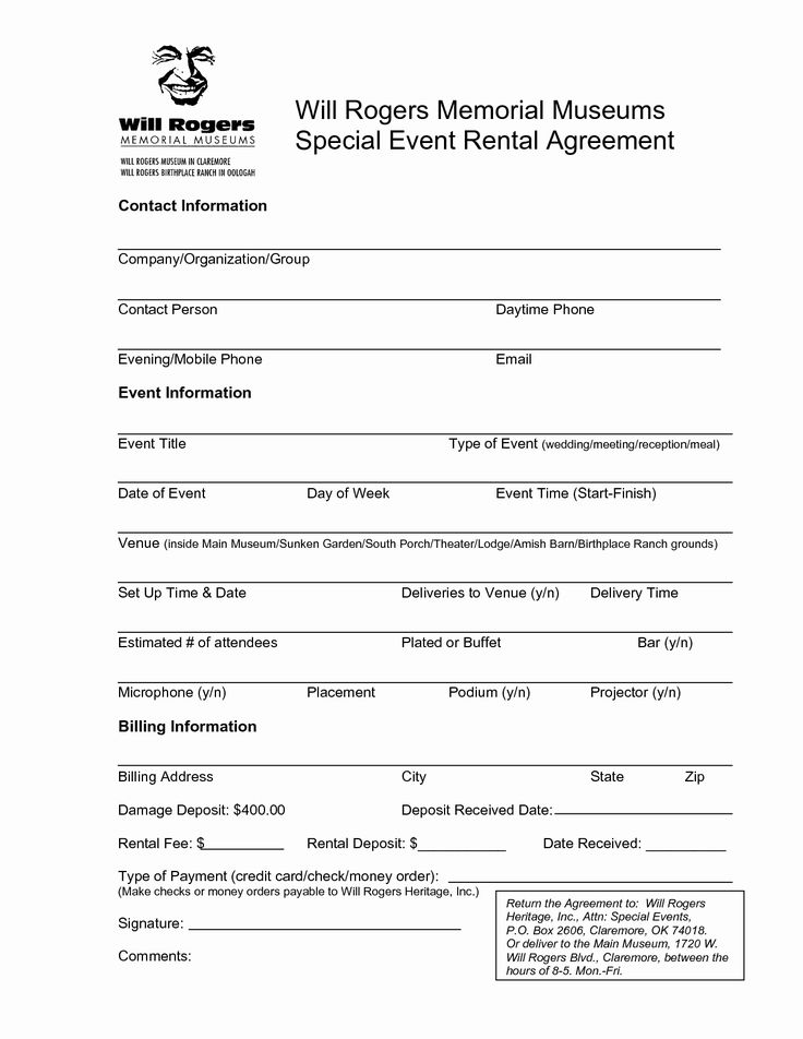 Party Rental Contract Template Beautiful Best S Of Venue ...