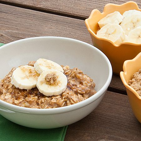 Banana Bread Oatmeal, but I would skip the extra topping except banana ...