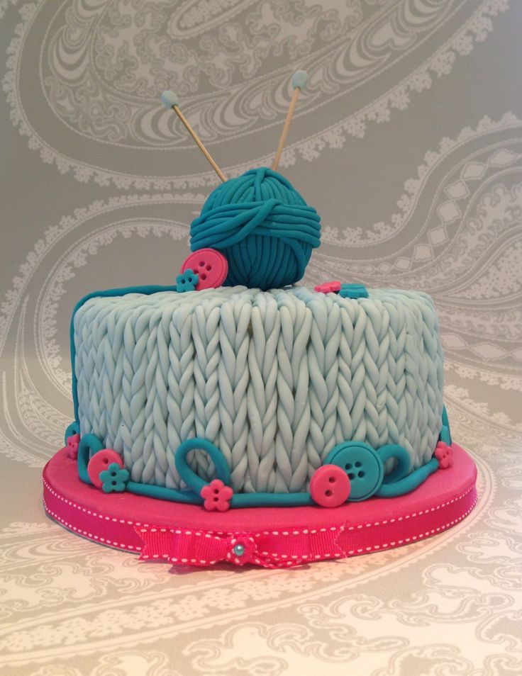 Knitting Birthday Cake Images : Best images about knitting crochet cakes on pinterest