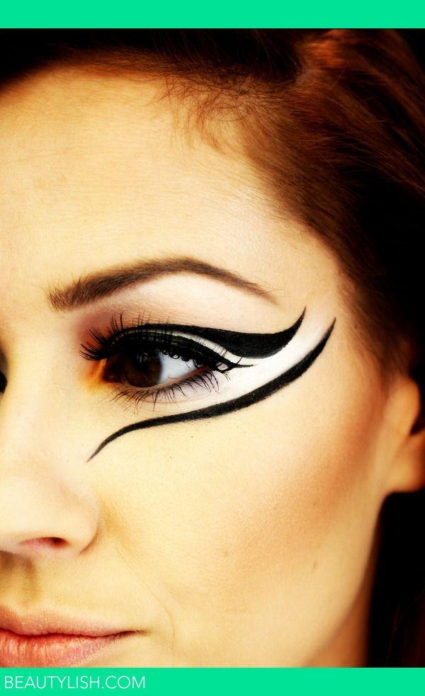 Simple zebra makeup