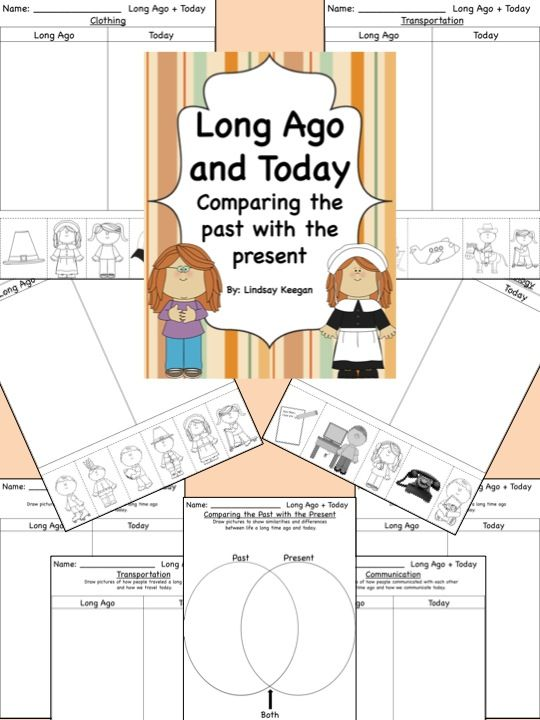 Lots of Long Ago and Today worksheets perfect for Thanksgiving or other social studies units.
