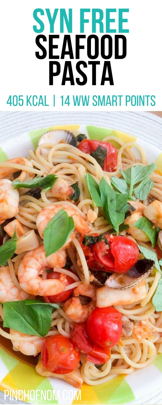 Syn Free Seafood Pasta | Pinch Of Nom Slimming World Recipes    405 kcal | Syn Free | 14 Weight Watchers Smart Points