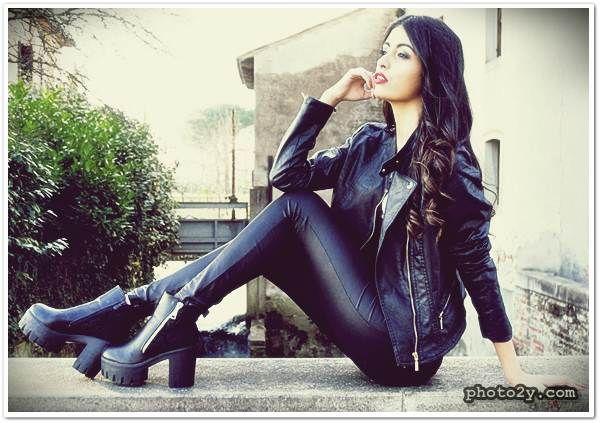 صور بنات المغرب العربي المملكة المغربية الكبرى Morocco Girls Beautiful Women Leather Pants Fashion