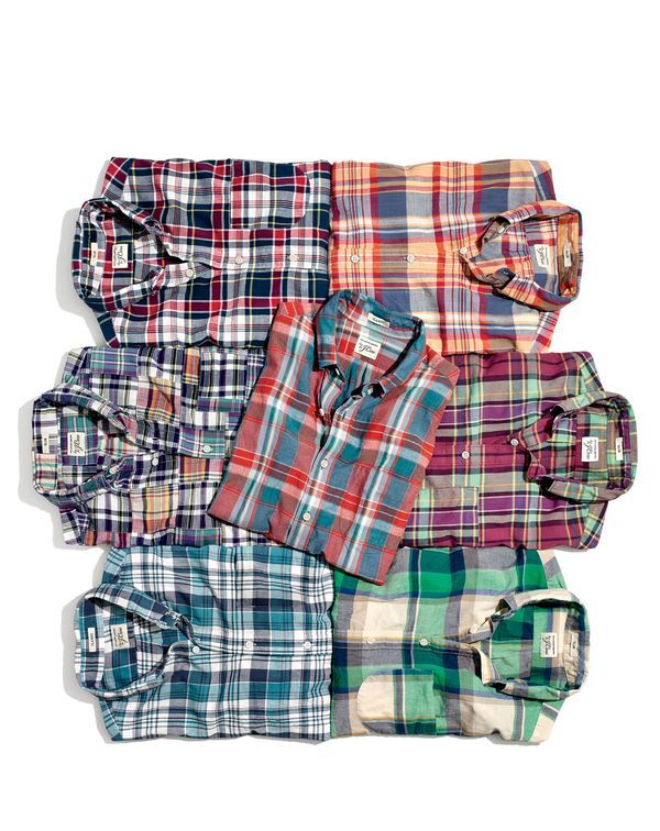 Introducing J.Crew men's Indian madras shirts: We went to India, the country that invented this comfortable extra-light fabric, to create custom-designed plaids you aren't going to find anywhere else.