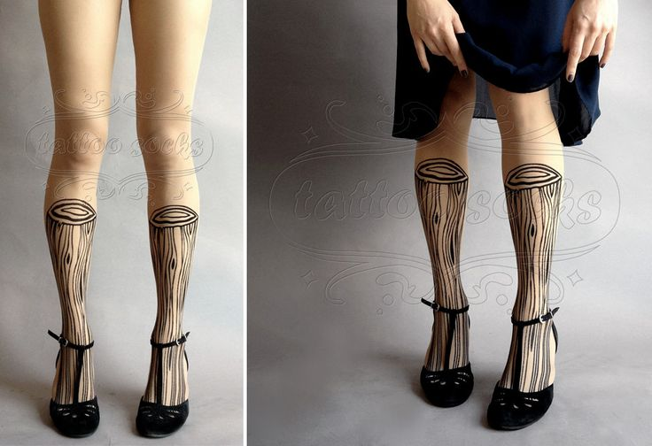 Large/Extra Large sexy Wooden Legs tattoo tights / by tattoosocks