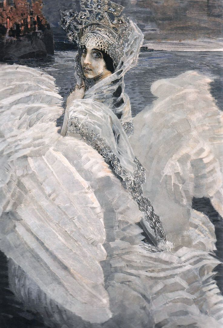 """""""The Swan Princess"""" by Mikhail Vrubel, 1900"""