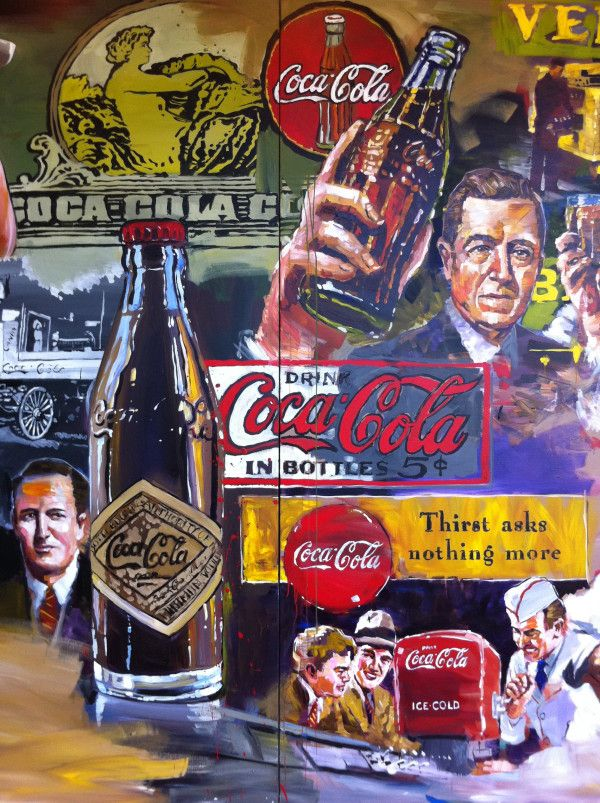 125 years of Coca-Cola - a Steve Penley mural honoring the 125th Anniversary.