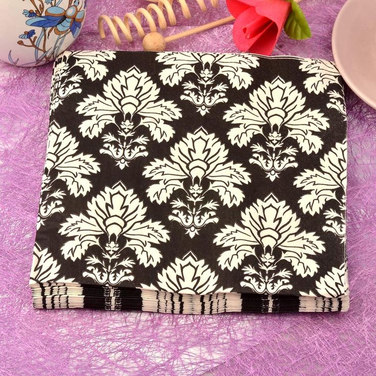 20pcs/lot Black and white totem classic paper Napkin wedding napkin table dinner paper Tissues wedding party supplies