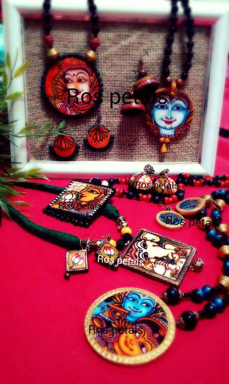 Kerala mural jewellery