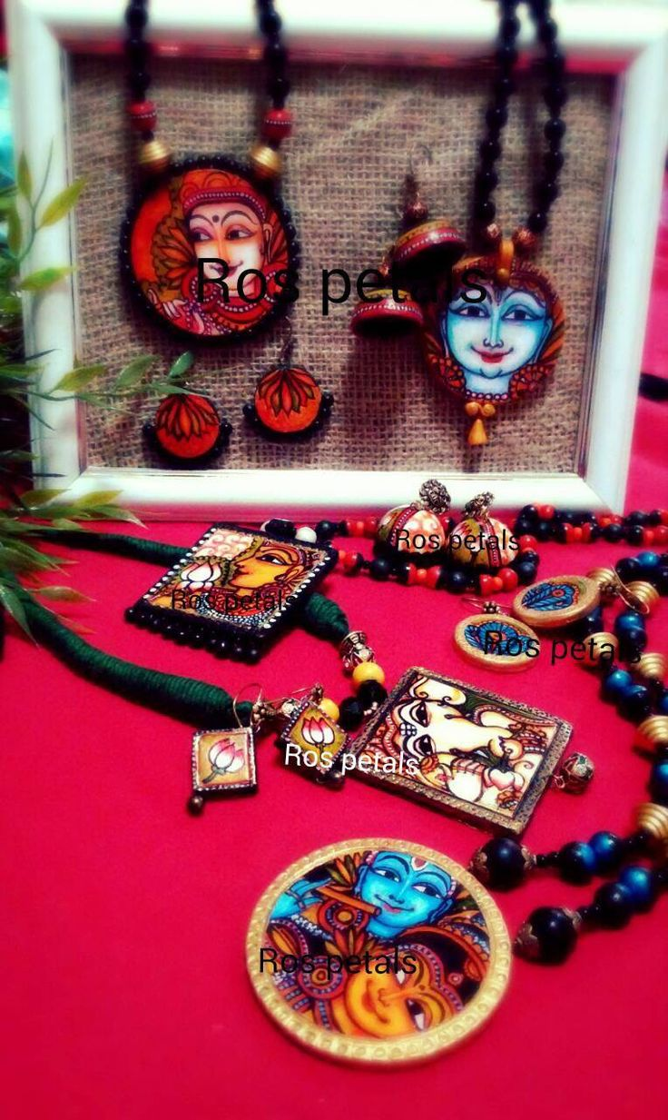 Kerala mural jewellery my creations pinterest posts for Mural jewellery