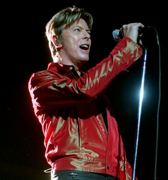 David Bowie performing at Snug Harbor Music Hall, Staten Island on Friday night, October 11, 2002