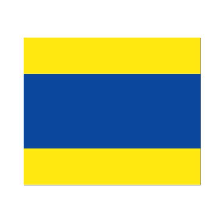 Seinvlag D 20x24cm Materiaal Pavillon, rondom gezoomd met koord en lus, hoogste kwaliteit. Betekenis van deze Signaalvlag D Delta : Houd vrij van mij; ik kan moeilijk manoevreren Laat zien dat je er bent met de Seinvlaggen van Vlaggenclub bestel ze allemaal en knoop de mooiste Pavoiseerlijn. N.B. In sommige landen is het aan boord hebben van Signaalvlaggen verplicht. Wij verkopen alle seinvlaggen los maar ook voordelig in één set. Bestel al uw seinvlaggen voordelig bij Vlaggenclub