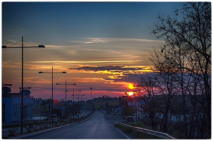 Battipaglia al tramonto,,Italy