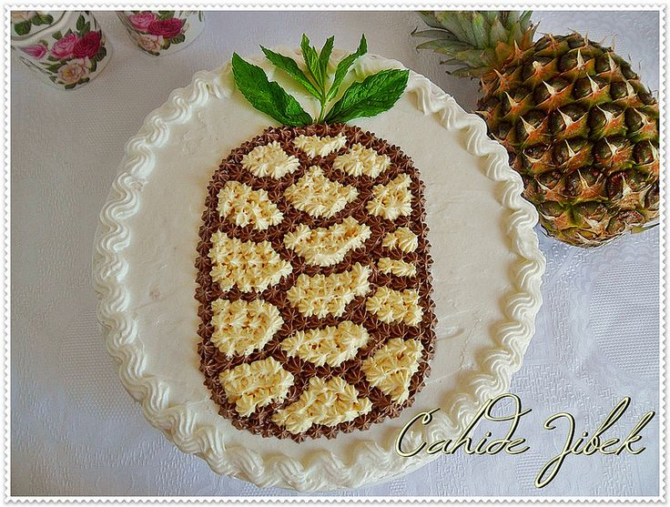 Ananaslı Yaş Pasta