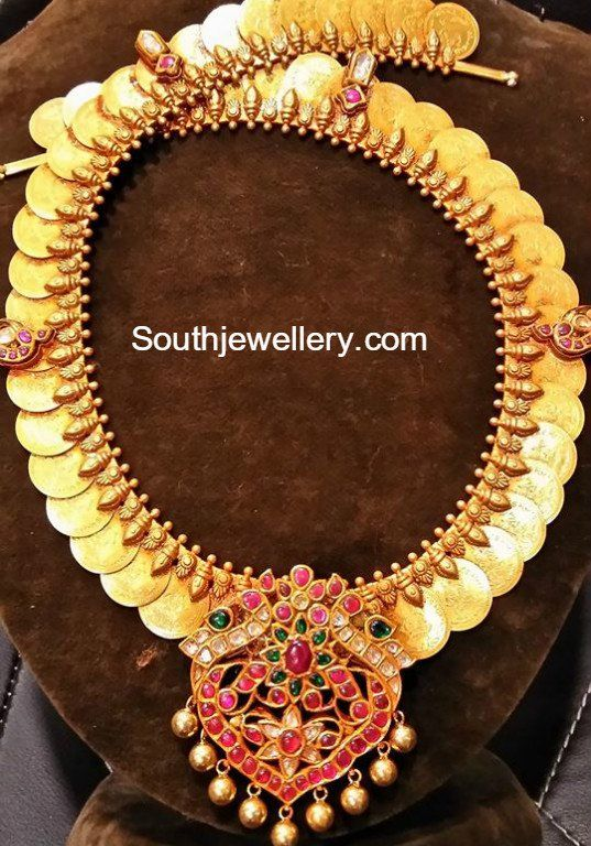 Lakshmi Kasu Haram with Kundan Pendant photo