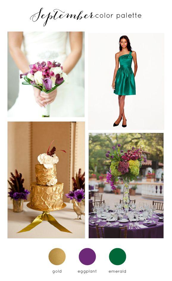 September Wedding Color Palette