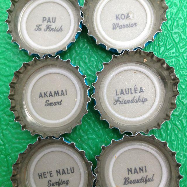 272 best hawaiian word of the day images on pinterest hawaii hawaiian phrases bottle tops m4hsunfo