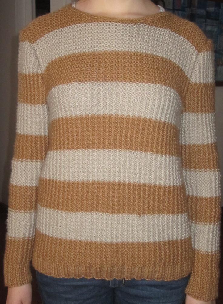 Saco tejido en dos agujas lana semi gruesa modelo para - Lana gruesa para tejer ...