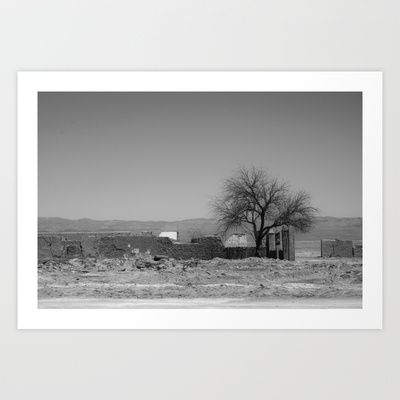 My desert Art Print by Oscar Tello Muñoz - $19.00