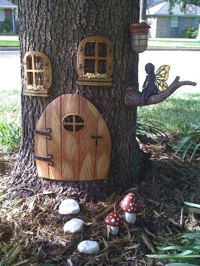 Gnome door for your fairy garden! Find it here: http://amzn.to/1tAHAcL