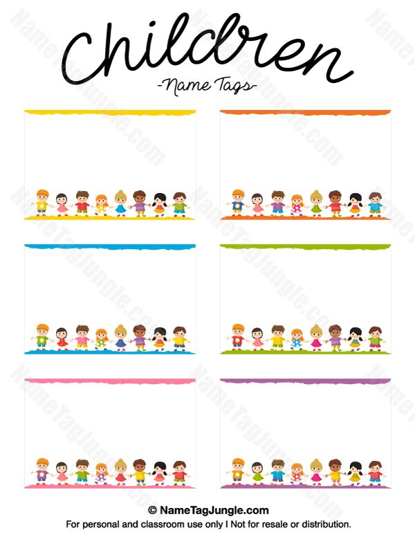 268 best images about name tags at nametagjunglecom on pinterest halloween party names for Name tag template for kids