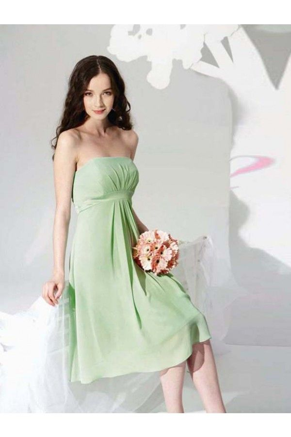 A-Line Halter Backless Knee-Length Elastic Satin Sleeveless Bridesmaid Dresses
