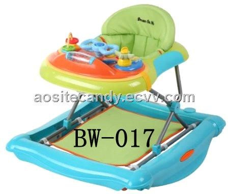 BW-017- 2-In-1 Crossover Musical Walker and Rocker (BW-017) - China baby walker with mp3, aosite