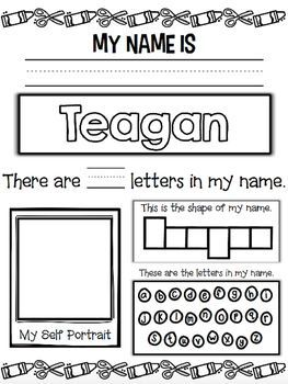 I hope your little ones enjoy this name activity! Perfect for back to school! Thank you so much! :) Please follow me so you can be updated as I add more products and freebies to my store :) I really appreciate your support! Thank you! Check out my blog at: http://keepinitkoolinkinderland.blogspot.com