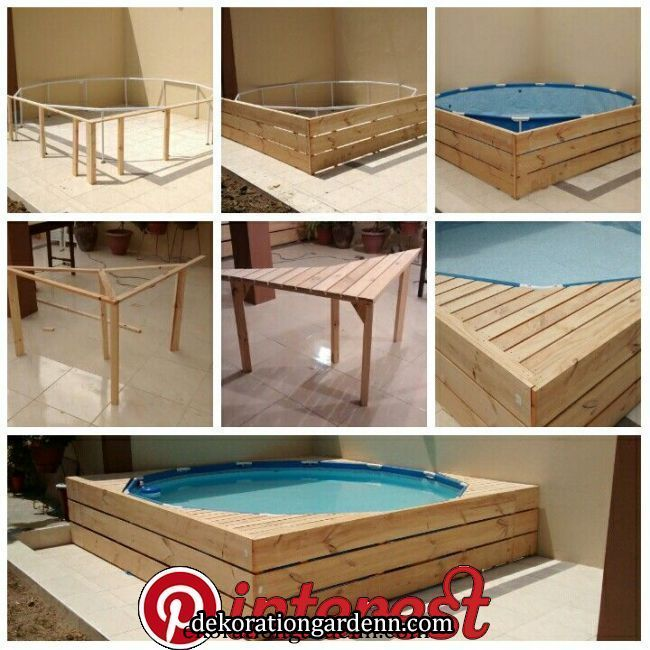 Pool Pool Und Holzstruktur Pool Deck Oberirdisch Diy Diy