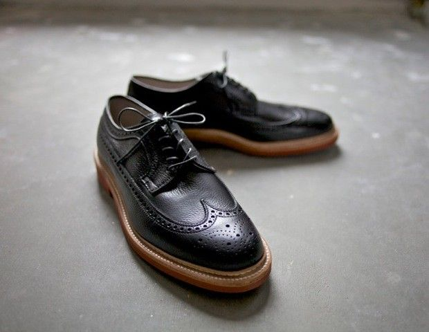 Alden x FransBoone black grained longwing red brick sole