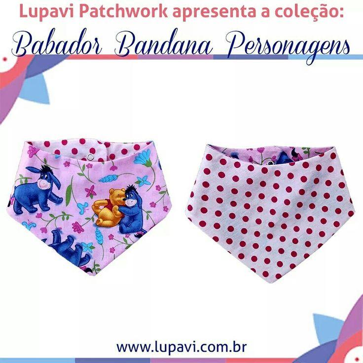 Nova Coleção Babador Bandana Personagens - Ursinho Pooh   Babadores lindos e fashion para o seu bebê brincar com o Ursinho Pooh e os seus amigos   www.lupavi.com.br/babador-bandana-personagens  Babador Bandana Personagens, R$22 WhatsApp (21)96782-5745  www.lupavi.com.br  #LupaviPatchwork #artesanato #customizado #personalizado #patchwork #infantil #bebê #BabadorBandana #DuplaFace #Babador #Bandana #estampas #personagen #urso #UrsinhoPooh #Pooh #Disney #novidades #CompreOnline #Lupavi
