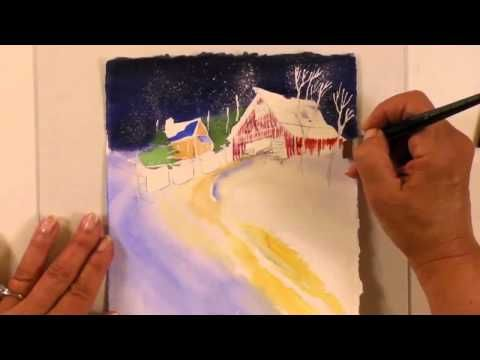 47 best Painting Snow images on Pinterest | Watercolor techniques ...