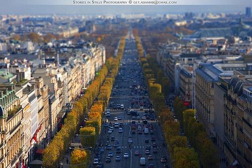 The Avenue des Champs-Élysées, Paris