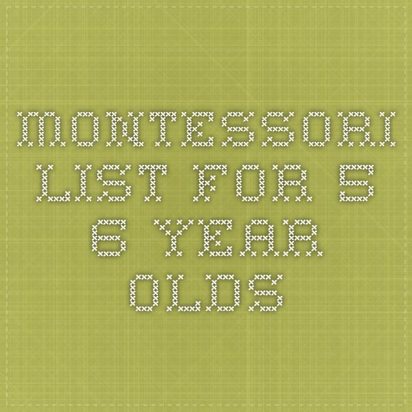 Montessori Lessons For 5 6 Year Olds Montessori Lessons Activities For 6 Year Olds