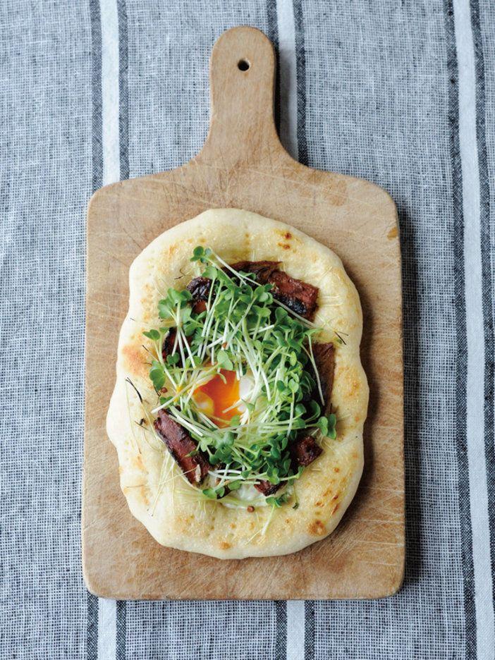 魚焼きグリルでできる和風味のピッツァ 『ELLE a table』はおしゃれで簡単なレシピが満載!